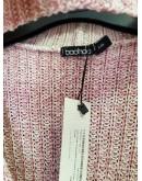 Свитер с чокером овер сайз пудра boohoo s,m,пудровый вязанный свитер с чокером