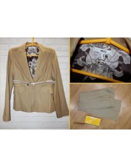 В наличии Шерстяной костюм mango пиджак + брюки s-m
